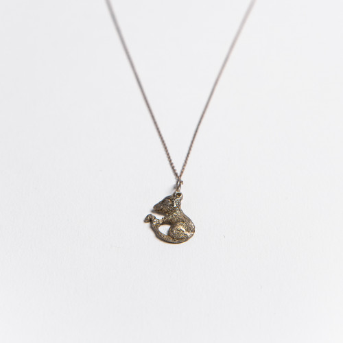 Unique Silver Necklace with...