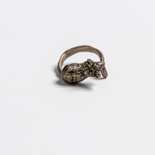 Unikaten srebrn prstan -...