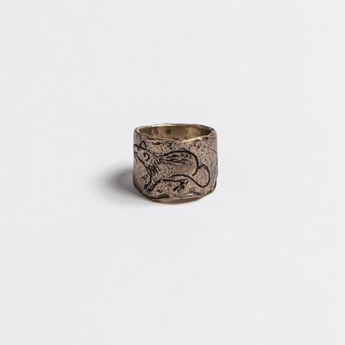 Unikaten srebrn prstan