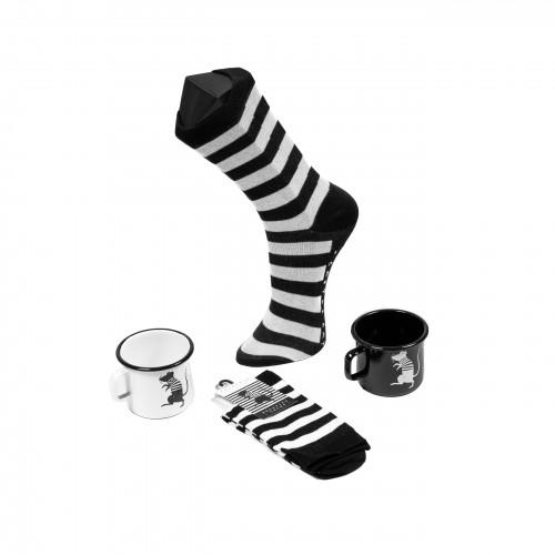 For Him: Socks + Enamel Cup